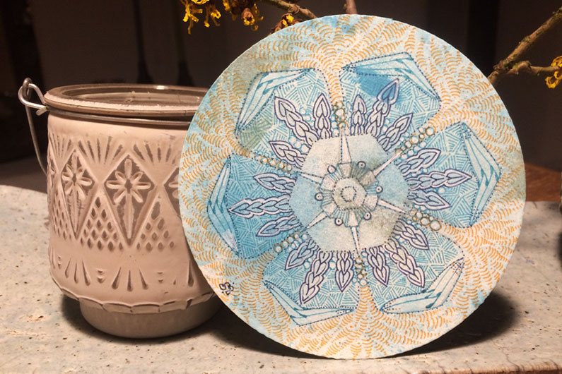 zentangle, zendala, tangle, watercolor background, betweed, indy-rella, y-chain
