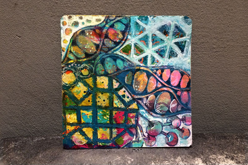 zentangle inspired art, ZIA, mixed media art, golden acylics, tangle, tipoli, poke root, orbs-la-dee, man-o-man